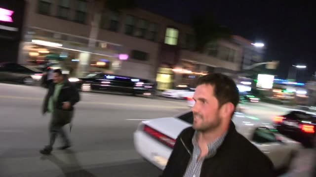 Matt Leinart departs Aventine in Hollywood 01/31/13
