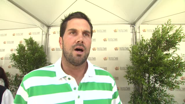 Matt Leinart on today's event on the work EGPAF does and on bringing his son to the event at 23rd Annual 'A Time For Heroes' Celebrity Picnic...