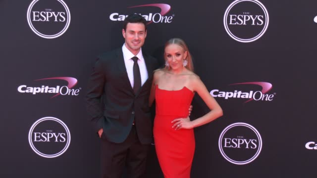 vídeos de stock, filmes e b-roll de matt lombardi nastia liuken at the 2017 espys in los angeles ca - espy awards
