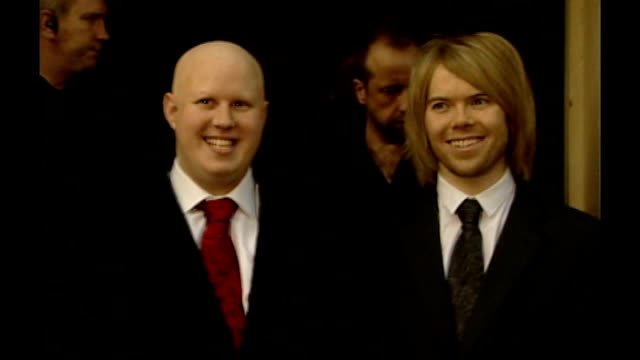 photography *** matt lucas with former partner kevin mcgee posing for photos after marrying in civil ceremony - matt lucas comedian stock videos and b-roll footage