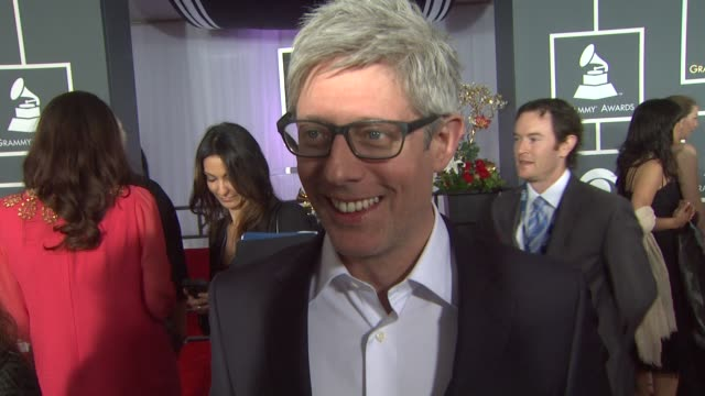 interview matt maher on being nominated and on being a musician at the 55th annual grammy awards arrivals interviews in los angeles ca on 2/10/13 - grammy awards stock videos and b-roll footage
