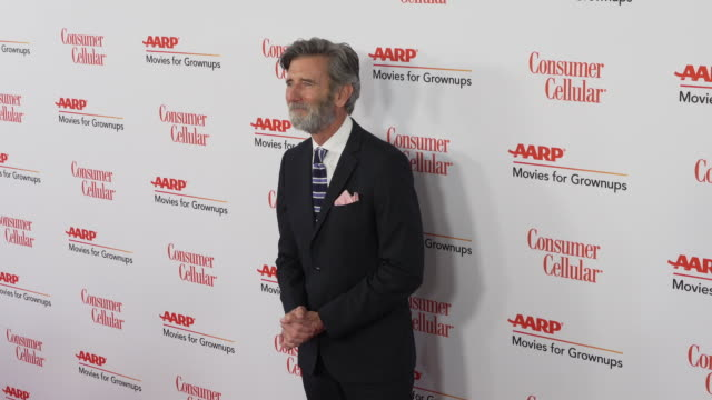 matt mccoy at the 18th annual movies for grownups awards at the beverly wilshire four seasons hotel on february 04, 2019 in beverly hills, california. - フォーシーズンズホテル点の映像素材/bロール