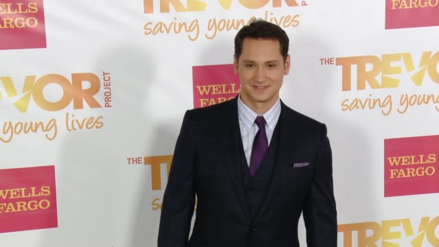 matt mcgorry at 16th annual trevor project benefit presented by wells fargo in los angeles ca - markenname stock-videos und b-roll-filmmaterial