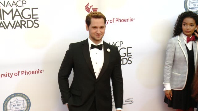 stockvideo's en b-roll-footage met matt mcgorry at the 46th annual naacp image awards arrivals at pasadena civic auditorium on february 06 2015 in pasadena california - pasadena civic auditorium