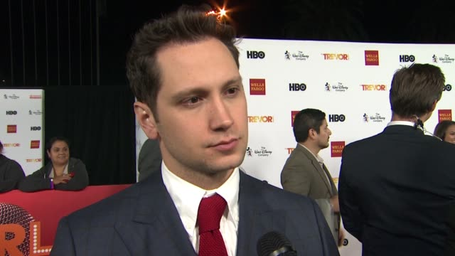interview matt mcgorry on presenting tonight on getting involved with the trevor project at trevorlive los angeles 2015 at hollywood palladium on... - the trevor project stock videos and b-roll footage