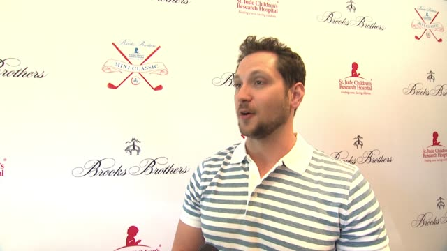 interview matt mcgorry on what brings him out why the work st jude's does is so important at brooks brothers hosts mini classic to benefit st jude... - st. jude children's research hospital stock videos and b-roll footage