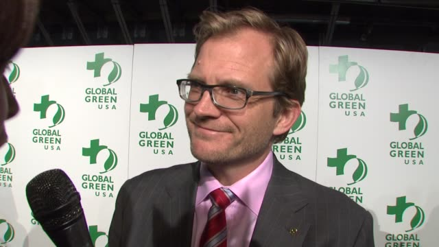 matt petersen on who's coming to tonight's event, on global green usa's mission, and on what he does to be green at the global green usa's 6th annual... - oscar party stock videos & royalty-free footage