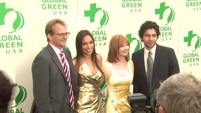Matt Petersen Rosario Dawson Sharon Lawrence Adrian Grenier at the Global Green USA 13th Annual Millennium Awards at Santa Monica CA