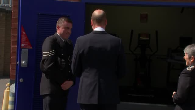 prince william visits croydon custody centre; england: london: croydon: croydon custody centre: ext various of prince william, duke of cambridge and... - crime and murder stock videos & royalty-free footage