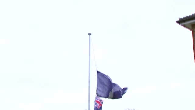 tributes at east grinstead rugby club england west sussex east grinstead rugby club ext floral tributes in tribute to sergeant matt ratana laid at... - carefree stock videos & royalty-free footage