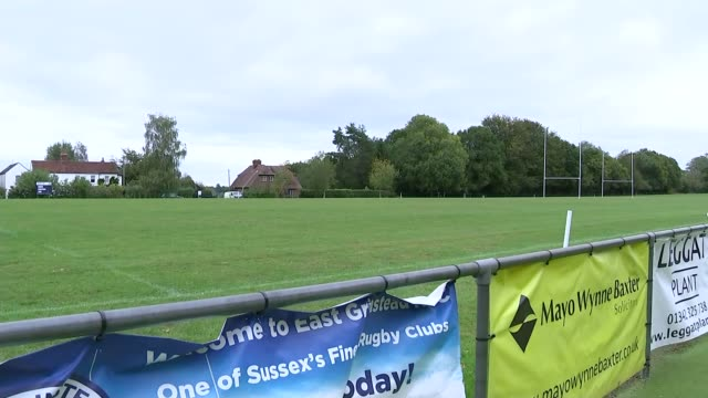 tributes at east grinstead rugby club england west sussex east grinstead rugby club ext flowers and messages laid in tribute to sergeant matt ratana... - carefree stock videos & royalty-free footage