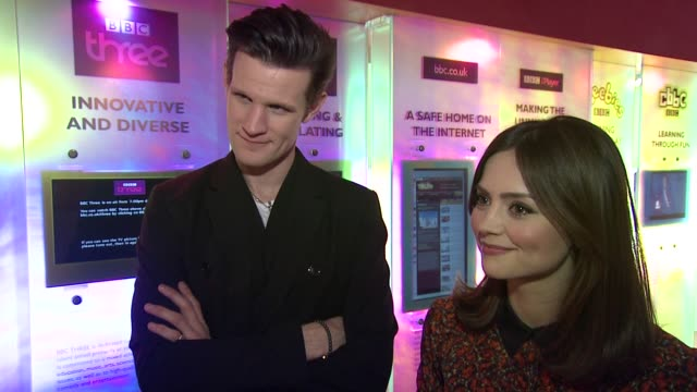 INTERVIEW Matt Smith and Jenna Louise Coleman on auditioning for the role at the Doctor Who Cast Discuss Christmas Special 2012 BBC Television Centre...
