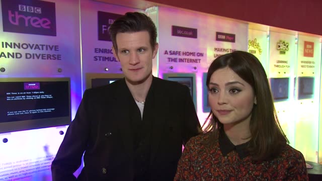 INTERVIEW Matt Smith and Jenna Louise Coleman on the 50 years of Dcotor Who and secrecy on set at the Doctor Who Cast Discuss Christmas Special 2012...