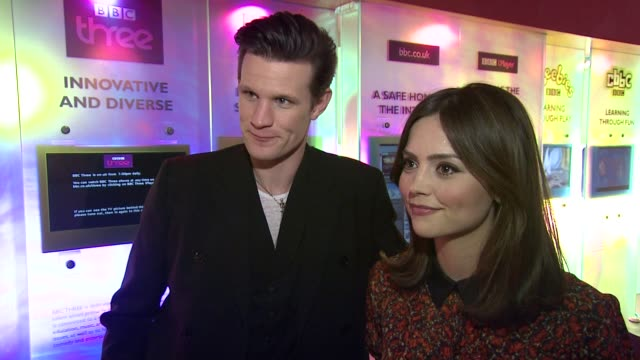 INTERVIEW Matt Smith and Jenna Louise Coleman on watching it on Chrstmas day at the Doctor Who Cast Discuss Christmas Special 2012 BBC Television...