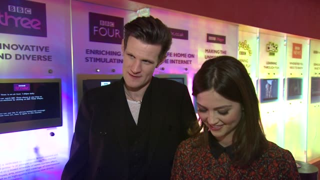 INTERVIEW Matt Smith and Jenna Louise Coleman on William Shatner and the Master at the Doctor Who Cast Discuss Christmas Special 2012 BBC Television...