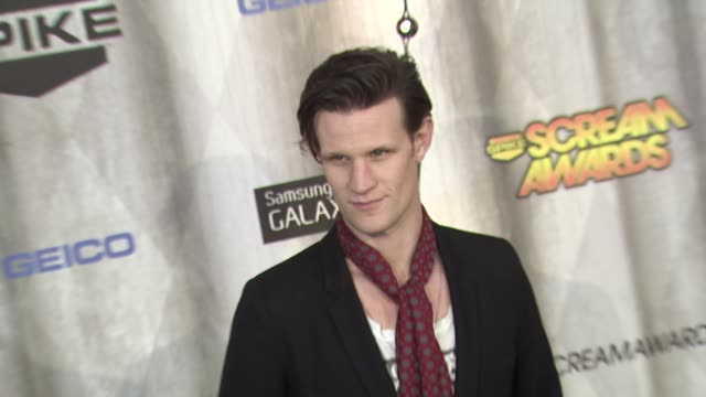 matt smith at the spike tv's 'scream awards at universal city ca - universal city stock videos & royalty-free footage