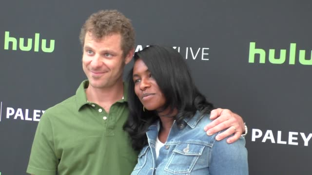 matt stone & angela howard at the paley center for media presents special retrospective event honoring 20 seasons of south park at the paley center... - paley center for media los angeles stock videos & royalty-free footage