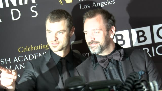vídeos y material grabado en eventos de stock de matt stone trey parker at 2012 bafta los angeles britannia awards presented by bbc america on 11/7/12 in los angeles ca - trey parker