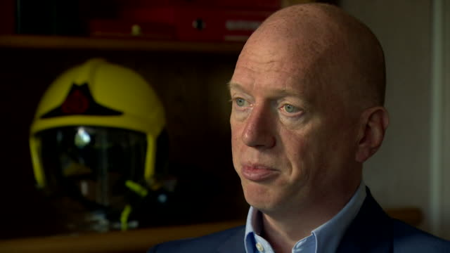 matt wrack general secretary of the fire brigades union says that there was 'remarkable heroism' shown by firefighters during the grenfell tower fire... - courage stock videos & royalty-free footage