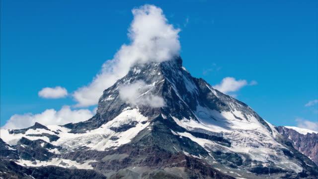 matterhorn mountain. swiss alps. 4k timelapse - european alps stock videos & royalty-free footage