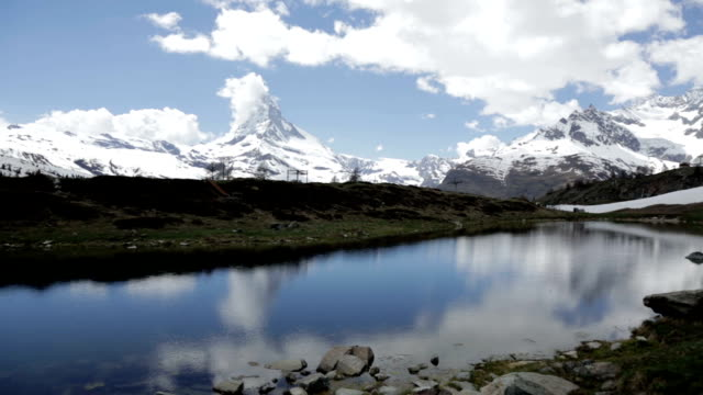 Matterhorn reflecting on a lake, Zermatt, Switzerland