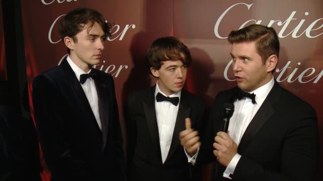 matthew beard, alex lawther and allen leech on receiving the ensemble performance award for the imitation game, what makes this festival different... - cartier stock videos & royalty-free footage