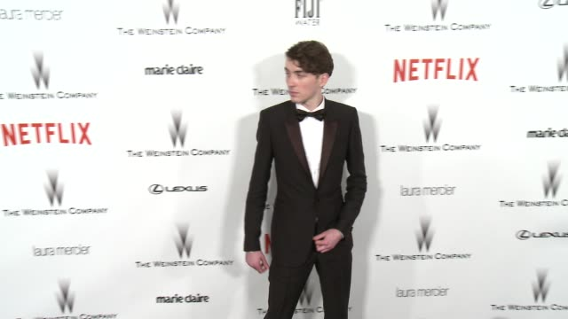 Matthew Beard at the 2015 Weinstein Company And Netflix Golden Globe After Party at Robinsons May Lot on January 11 2015 in Beverly Hills California