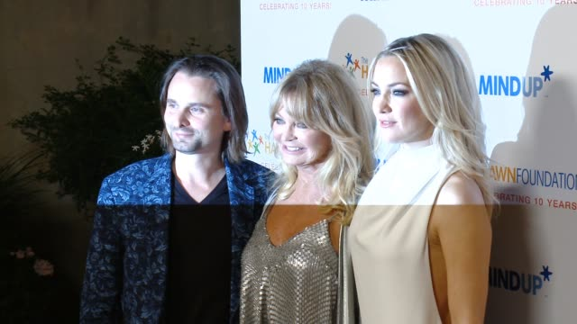 Matthew Bellamy Goldie Hawn Kate Hudson at Goldie Hawn's Inaugural 'Love In For Kids' Benefitting The Hawn Foundation's MindUP Program Transforming...
