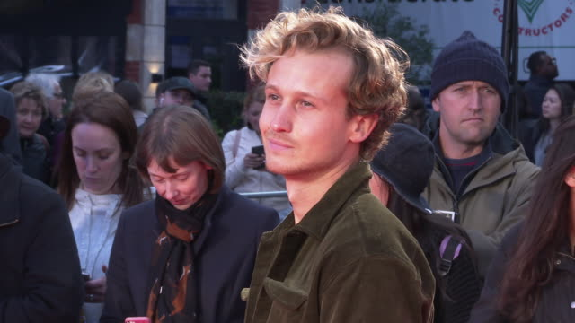 matthew bentley at 'greed' european premiere 63rd bfi london film festival at odeon luxe leicester square on october 9 2019 in london england - greed stock videos and b-roll footage