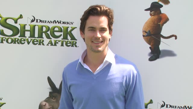matthew bomer at the 'shrek forever after' premiere at universal city ca - universal city video stock e b–roll