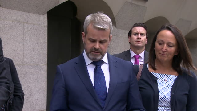 matthew briggs husband of kim briggs who died after a collision with cyclist charlie alliston reads a statement outside court about his wife august... - affectionate stock videos & royalty-free footage