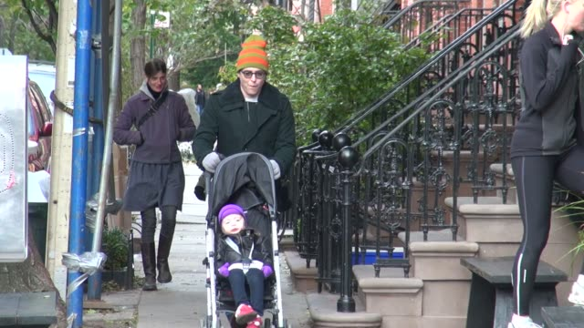 matthew broderick and family in new york ny on 11/6/12 - matthew broderick stock videos & royalty-free footage