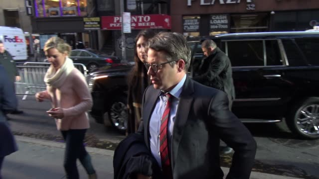 matthew broderick arrives at nbc studios in new york city on october 26 2015 in new york city - matthew broderick stock videos & royalty-free footage