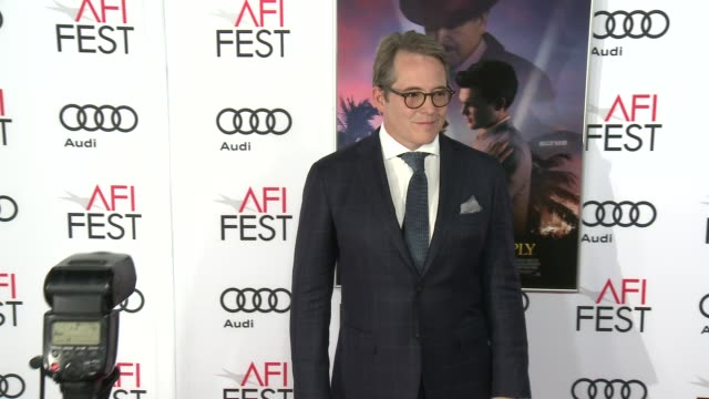 matthew broderick at audi celebrates opening night of 'rules don't apply' at afi fest 2016 on november 10 2016 in hollywood california - matthew broderick stock videos & royalty-free footage
