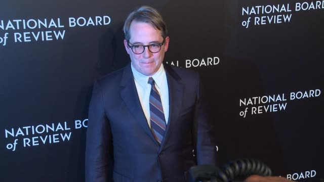 matthew broderick at national board of review gala at cipriani 42nd street on january 04 2017 in new york city - matthew broderick stock videos & royalty-free footage