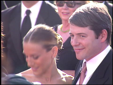 matthew broderick at the 2003 emmy awards at the shrine auditorium in los angeles california on september 21 2003 - matthew broderick stock videos & royalty-free footage