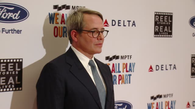 matthew broderick at the 6th annual reel stories reel lives event benefiting mptf at milk studios on november 2 2017 in los angeles california - matthew broderick stock videos & royalty-free footage