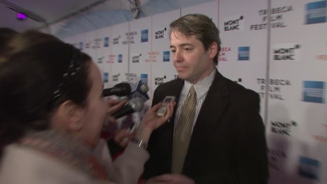 matthew broderick at the 7th annual tribeca film festival finding amanda premiere at borough of manhattan community college / tribeca performing arts... - matthew broderick stock videos & royalty-free footage