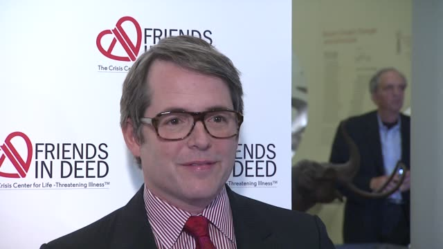 matthew broderick at the a little jurassic treasure hunt a 20th anniversary benefit celebrating 'friends in deed' at new york ny - matthew broderick stock videos & royalty-free footage