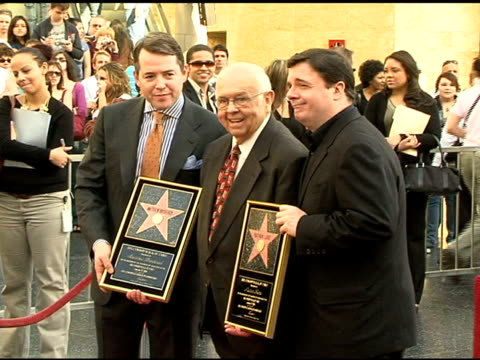 matthew broderick johnny grant and nathan lane at the dedication of matthew broderick and nathan lane's double star on the hollywood walk of fame at... - matthew broderick stock videos & royalty-free footage