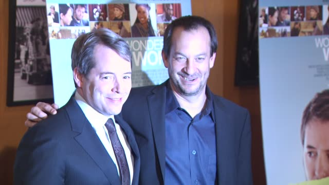 matthew broderick joshua goldin at the 'wonderful world' premiere at west hollywood ca - matthew broderick stock videos & royalty-free footage