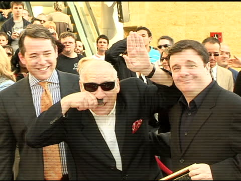 matthew broderick mel brooks and nathan lane at the dedication of matthew broderick and nathan lane's double star on the hollywood walk of fame at... - matthew broderick stock videos & royalty-free footage