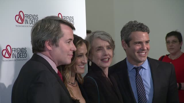 matthew broderick sarah jessica parker cynthia o'neal and andy cohen at the a little jurassic treasure hunt a 20th anniversary benefit celebrating... - cynthia parker stock videos & royalty-free footage