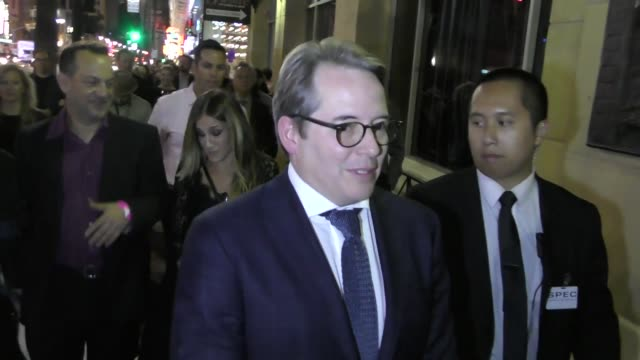 matthew broderick sarah jessica parker outside the roosevelt hotel in hollywood in celebrity sightings in los angeles - matthew broderick stock videos & royalty-free footage