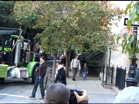 vidéos et rushes de matthew broderick & son james in the west village at the celebrity sightings in new york at new york ny. - matthew broderick