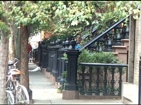 matthew broderick & son james wilke in the west village at the celebrity sightings in new york at new york ny. - matthew broderick stock videos & royalty-free footage