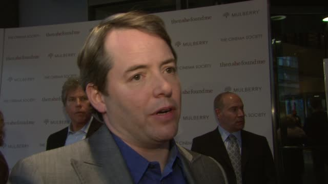 matthew broderick talks about his character in the film and working with helen hunt both directing and acting about why the film drew him in about... - matthew broderick stock videos & royalty-free footage
