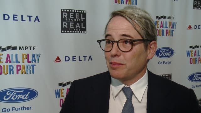 interview matthew broderick talks about the story he read at the 6th annual reel stories reel lives event benefiting mptf at milk studios on november... - matthew broderick stock videos & royalty-free footage