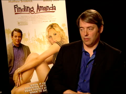 matthew broderick talks about working with peter tolan how tolan helped him with his character and how good the writing was he says he doesn't think... - matthew broderick stock videos & royalty-free footage