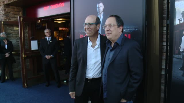 """matthew c. blank, mark gordon at showtime and time warner cable celebrate season two of """"ray donovan"""" in los angeles, ca 7/9/14 - showtime video stock e b–roll"""